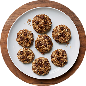 Plated Bananaoatmealcookies