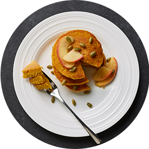 Plated Pumpkinpancakes