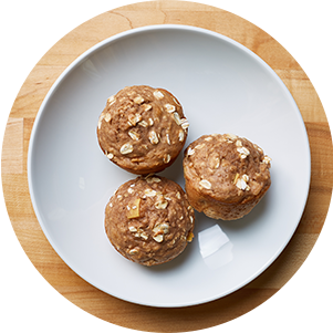 Plated Appleoatmealmuffins
